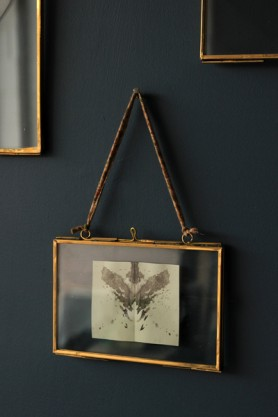 "Brass & Glass Picture Frame - 4""x6"" Landscape"