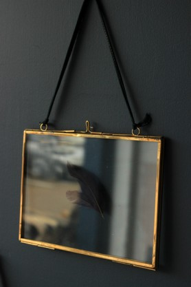 "Brass & Glass Picture Frame - 5""x7"" Landscape"