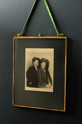 "Brass & Glass Picture Frame - 8"" x 10"" Portrait"