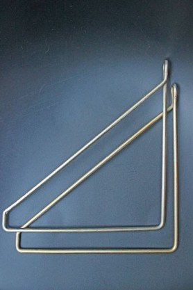 Brass Hangers For Shelf