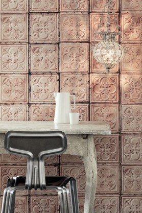 NLXL TIN-06 Brooklyn Tin Tiles Wallpaper By Merci