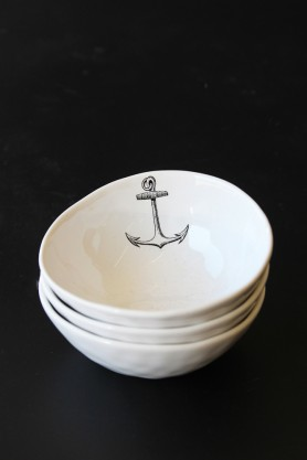 Handmade Ceramic Bowl - Anchor