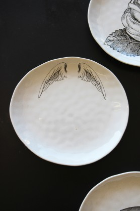Handmade Ceramic Plate - Wings