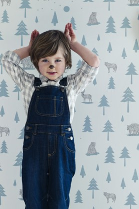 Hibou Home Children's Wallpaper - Into The Wild