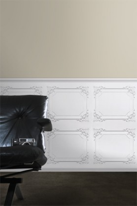 Koziel White Classical Louis XV Panelling Wallpaper