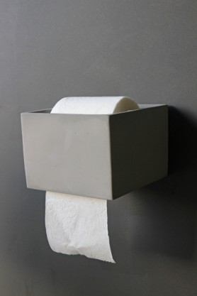 Concrete Toilet Roll Holder