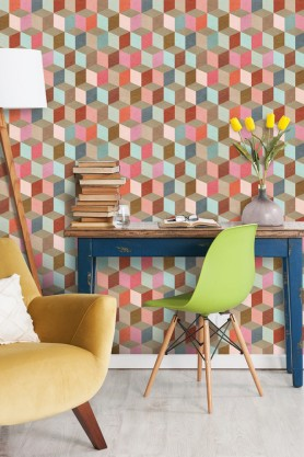 Mind The Gap Wallpaper Collection - Coloured Geometry