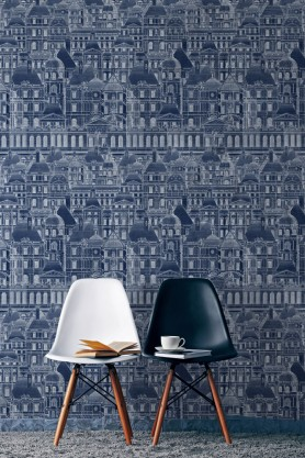 Mind The Gap Wallpaper Collection - Louvre - Blue