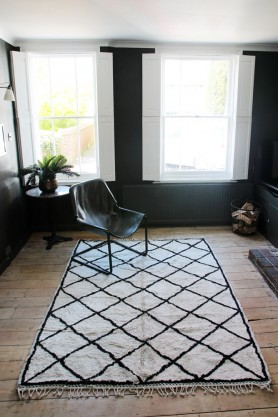 Oslo Black & Ivory Cotton Rug 170X240cm