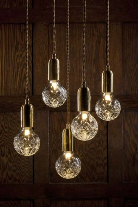 Crystal Bulb and Pendant Light