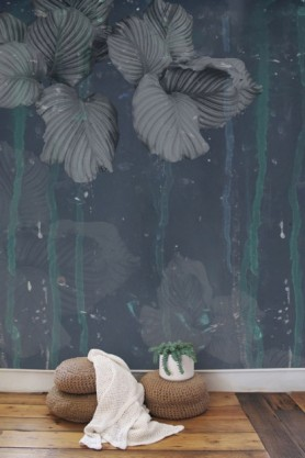 Elli Popp Issey - Nymph on the Waters Wallpaper - Grey