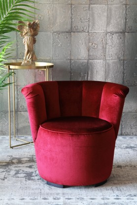 Gallery Velvet Cocktail Chair - Pinot Noir Red