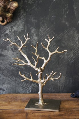 Gold Tree Jewellery Stand