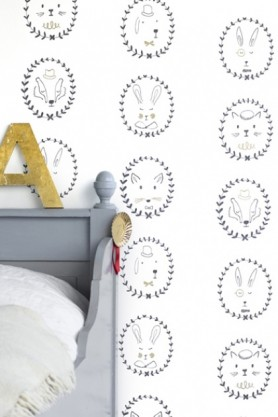 Lifestyle image of Hibou Home Picture Perfect Portraits Children's Wallpaper