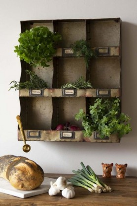 Industrial-Style Pigeon Hole Shelf Unit