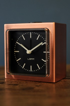 LEFF Amsterdam Block Alarm Clock - Copper
