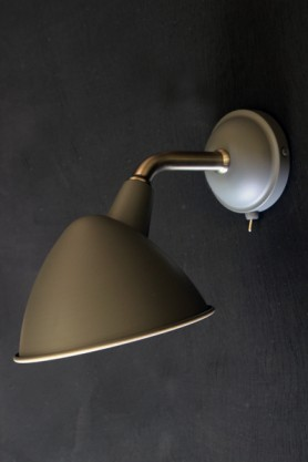 Mid Century Style Charcoal Grey Wall Light
