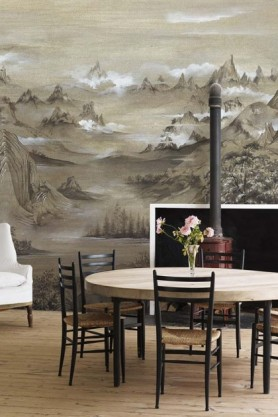 Lifestyle image of the Mountains Wallpaper Mural - Kami Maca