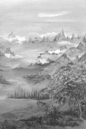 Close-up image of the Mountains Wallpaper Mural - Kami Seed