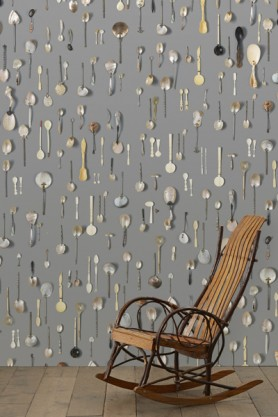 NLXL DRO-06 Obsession Small Spoons Wallpaper by Daniel Rozensztroch