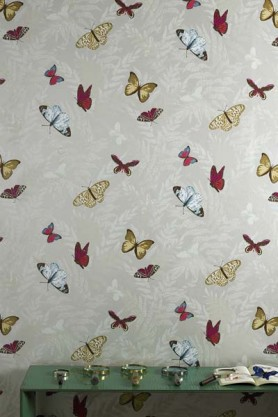 Osborne & Little - Nina Campbell - Farfalla Wallpaper - 10m Roll