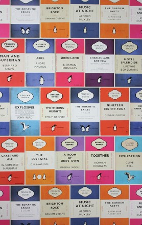Osborne & Little Penguin Library Wallpaper