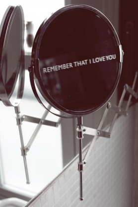 Personalised Etched Daily Reminder Shaving Mirror