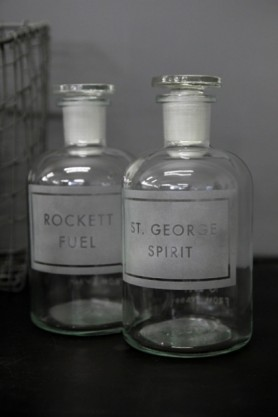 Personalised Hand-Etched Apothecary Bottle