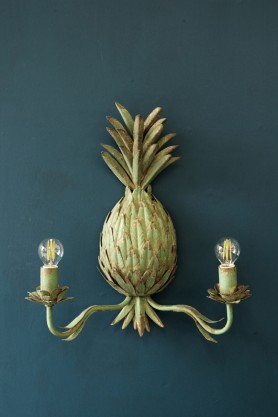 Patina Pineapple Wall Sconce