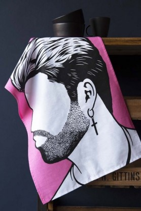 Rock Icon Tea Towel - George Michael