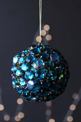 Aqua Jewel Bauble Hanging Decoration