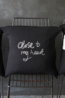 Bella Freud Merino Wool Cushion - Close to my Heart