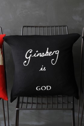 Bella Freud Merino Wool Cushion - Ginsberg is God