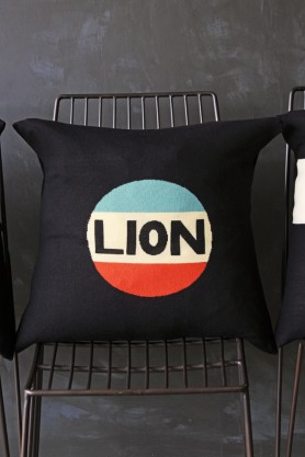 Bella Freud Merino Wool Cushion - Lion