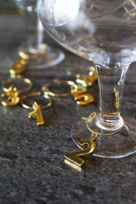 Belmont Gold Plated Set Of 6 Wine Charms