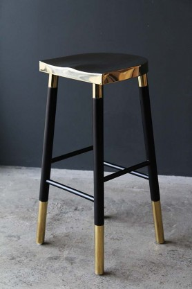 Black & Gold Vegas Barstool