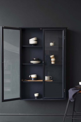 Black Pine Display Cabinet
