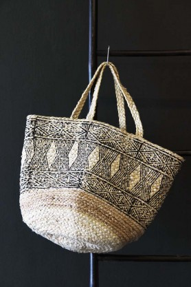 Block Printed Jute Bag