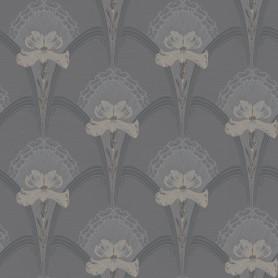 Close-up image of the BorasTapeter Jubileum Wallpaper - Lilja - Black
