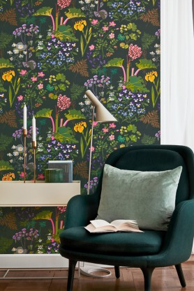 BorasTapeter Scandinavian Designers II Wallpaper - Rabarber - 2 Colours Available
