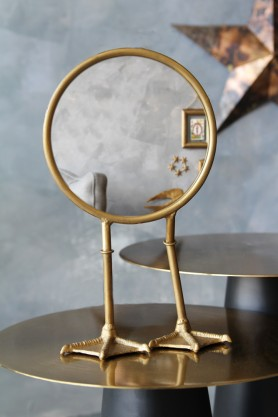 Bronze Bird Feet Table/Vanity Mirror