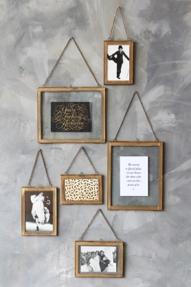 Wall Hung Brass Picture Frame - Portrait or Landscape - 3 Sizes Available