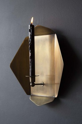 Brass Octagon Wall Sconce