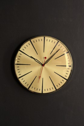 Gold Casino Wall Clock