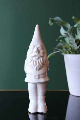 Ceramic Gnome - White