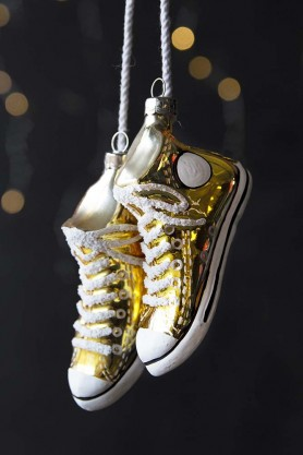 Gold Converse Style Sneakers Hanging Decoration