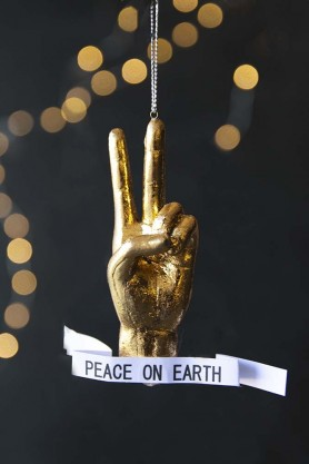 Peace On Earth Hand Decoration
