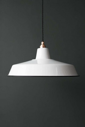 Lamp shades all lighting accessories lighting classic cloche enamel lamp shade white aloadofball Image collections