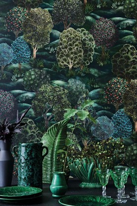 Lifestyle image of Forest Wallpaper by Cole & Son