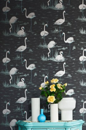 Cole & Son - Contemporary Restyled - Flamingos Wallpaper - 5 Colours Available